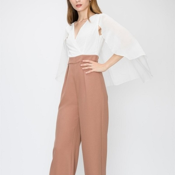 538738965690a0 Favlux Pants | Last One Two Toned Jumpsuit With Cape | Poshmark